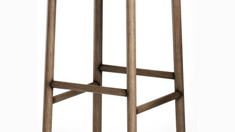 Kotan High Stool Wood by Conde House