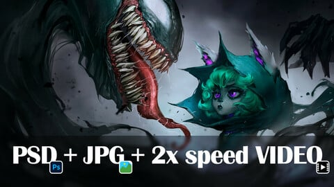 Vex / Venom - [HD JPG Artwork + PSD File + 2x Speed Video]