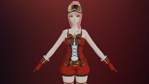 cartoon female snow costume (M98)