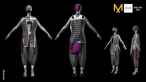 Future Fashion #1 - Clo3D/MarvelousDesigner + OBJ | Puffer Vest / NO TEXTURE