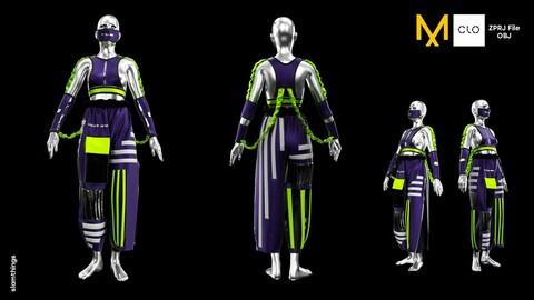 Future Fashion #2 - Clo3D/MarvelousDesigner + OBJ / NO TEXTURE