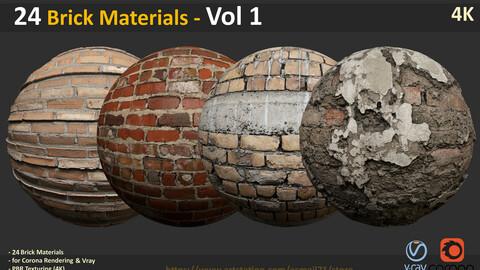 24 Brick Materials - Vol 1