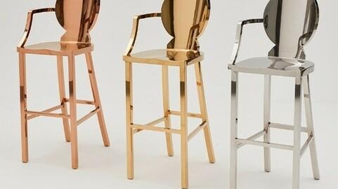 OIB-309 iron bar stool