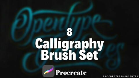8 Lettering brushes, Procreate brushes, iPad brushes, Lettering brushset, Digital calligraphy, Brush for Procreate, Calligraphy brushes