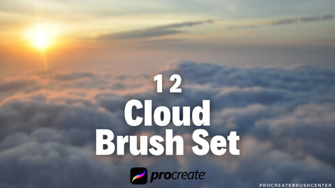 Cloud brush set for Procreate- 12 cloud brushes