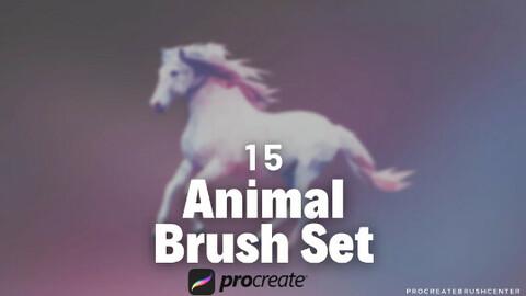 Animal brushes - Animal brush for Procreate. - 15 animal brushes