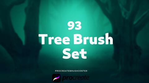 Procreate Tree Brushes - 93 different brushes - Palm - Pine - Bush -