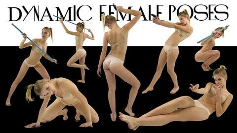 500 DYNAMIC FEMALE POSES [Perfect For Illustrations and Concept art]