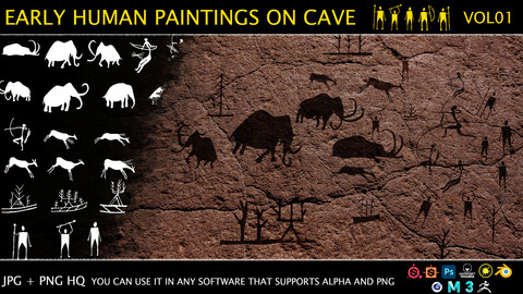 Early human paintings on cave - VOL01