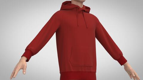 Hooded Sweatshirt, Clo3D, Marvelous Designer +.obj .fbx