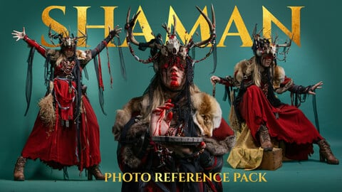 Shaman Photo Reference Pack for Artists 431 JPEGs