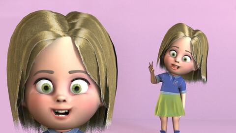Emma Cartoon child rigged