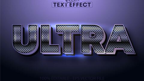 Metallic purple color text effect, shiny metallic alphabet style