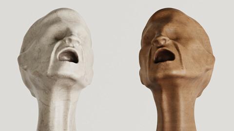 Scream Bust Statue