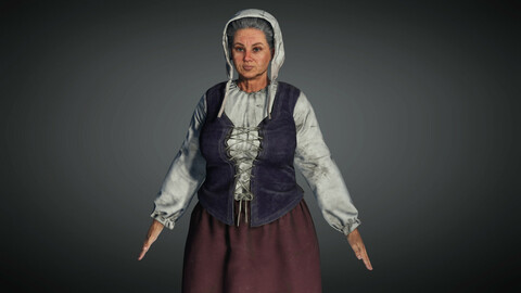 Medieval Female Character 04