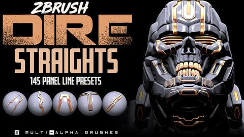 Dire Straights: ZBrush Panel Line Presets