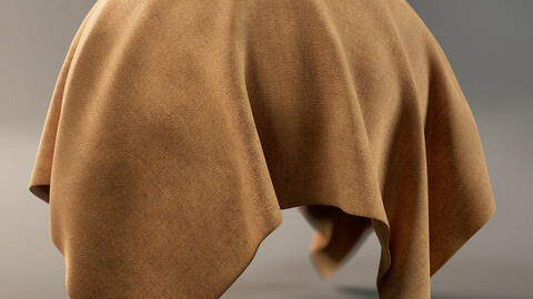 PBR - SOFT BROWN FABRIC FOR FURNITURE AND CLOTHING - 4K MATERIAL