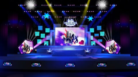 3DS Max 2014 Stage Concert 5