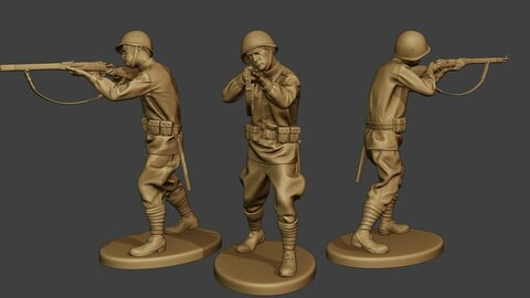 Russian soldier ww2 Shoot Stand R1