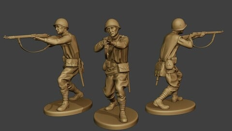 Russian soldier ww2 Shoot Stand2 R1