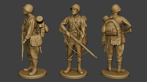 Russian soldier ww2 Stand R1