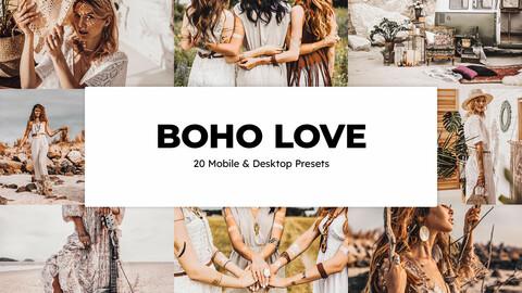 20 Boho Love LUTs and Lightroom Presets