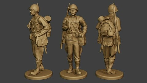 Russian soldier ww2 Walk2 R1