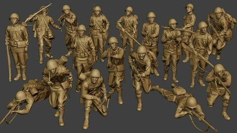 Russian soldiers ww2 R1 Pack 1