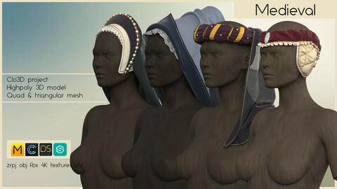 MEDIEVAL WOMEN'S HEADWEAR SET