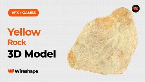 Yellow Rock Raw Scanned 3D Model