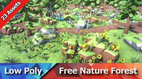 Free Low Poly Nature Forest