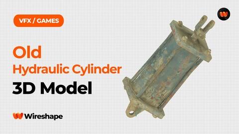 Old Hydraulic Cylinder Raw Scanned 3D Model