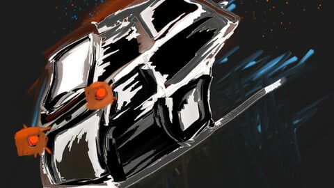 space-ship crashed