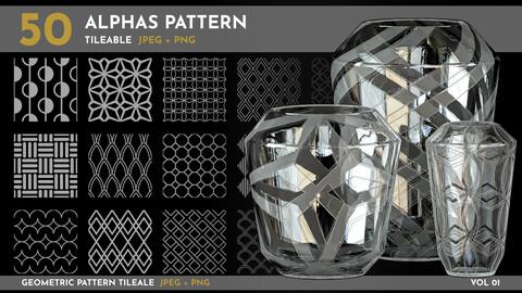 50 alphas - Tileable Patterns - Vol 01 (Geometric Patterns)