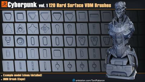Cyberpunk vol. 1 | 120 Hard Surface VDM Brushes for Zbrush