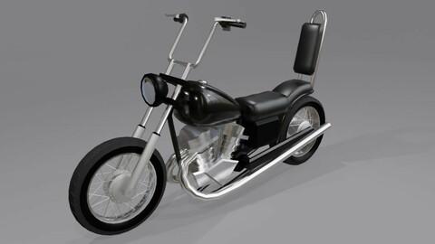 Moto Chopper - Motorcycle Low-poly 3D model