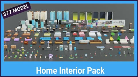 Pandazole - Home interior lowpoly pack