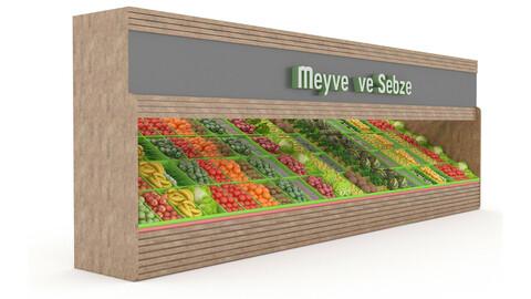 3D model greengrocer department fruit and vegetabl