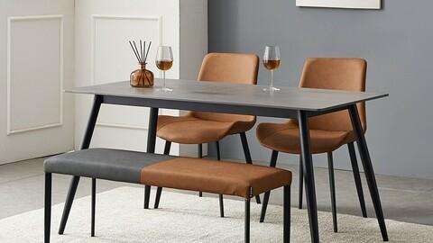 Shelton ceramic dining table set for 4