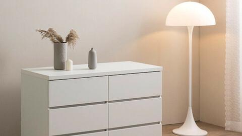 Maiden 1200 wide 3-tier storage chest of drawers