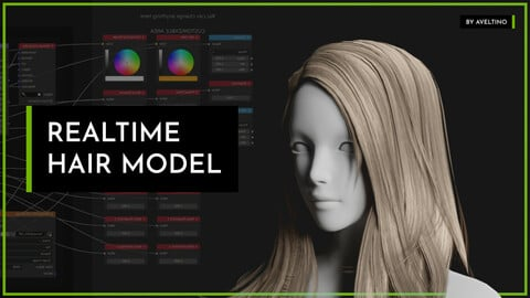 Realtime Hair Model - Hairstyle 005