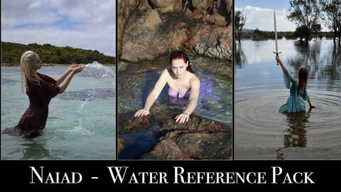 x140 Naiad in Water  -  Pose reference Pack