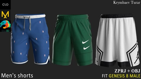 3 Shorts. Clo3d, MD projects + OBJ. Sport collection