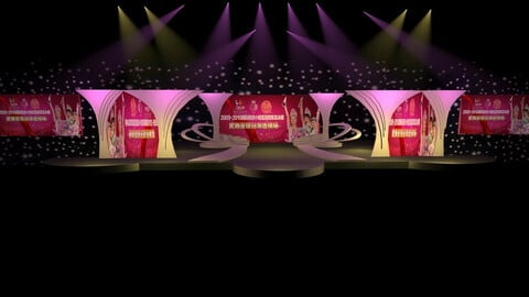 Stage party concert fashion catwalk T station  60