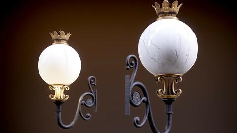 Old Victorian Wall Street Lantern 4K/8K