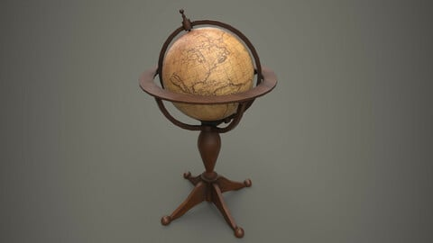 Standing Globe Antiques PBR