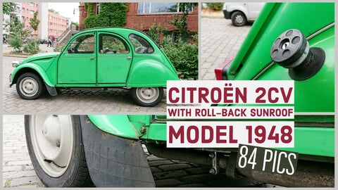 Citroën 2CV with roll-back sunroof, model 1948, 84 reference images