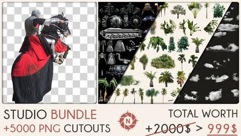 Studio Bundle: +5000 PNG Cutouts + Future packs for FREE