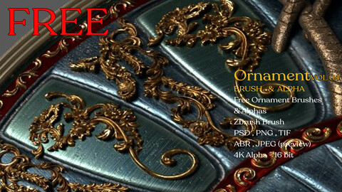 Free Ornament Brushes VOL 04