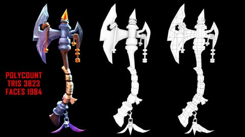 #stylizedgameart   Gaming assete   Props design   stylized game Axe